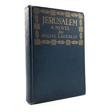 JERUSALEM A Novel by Selma Lagerlof Antique Book 1916