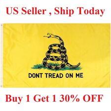 G128 - 3x5ft Dont Tread on Me Gadsden Flag Gadsden Tea Party yellow snake