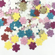 200pcs Sequins Flowers Felt Appliques Mixed Colors scrapbooking Crafts 20mm diy