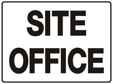 """WAYFINDER / DIRECTIONAL SIGN SITE OFFICE 5mm corflute 300MM X 225MM"""""""