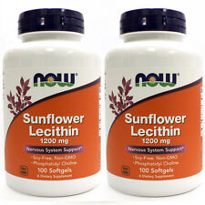 Sunflower Lecithin 1200 mg 100 Softgels (Pack of 2!) - NOW Foods