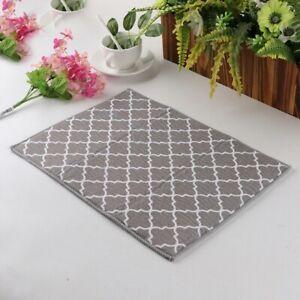 Household Microfibre Dish Drying Mat Pad Kitchen Sink Drainer Towel Tableware UK