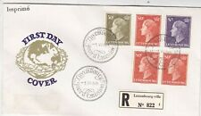 More details for luxembourg 1958 new definitives registered fdc special cancel vgc unaddressed