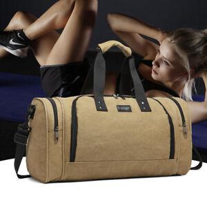 Men's Large Gym&Sports Bag Cabin Holdall Duffle Shoulder Travel Weekend Bag