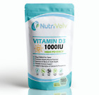 Vitamin D3 1000IU 180 Tablets High Strength Immune and Bone Support