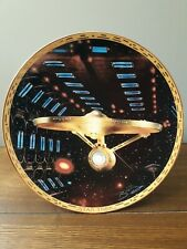 The Hamilton Collection Collectable Plate U.S.S. Enterprise NCC-1701-A Signed