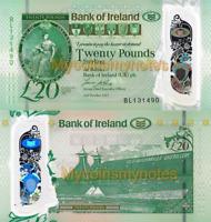 NORTHERN IRELAND, BANK OF IRELAND, £20, 2020, P-NEW, POLYMER, UNC