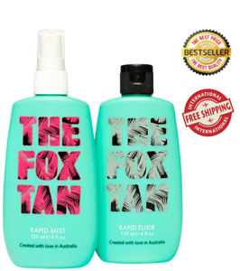 The Fox Tan Accelerator Complete Pack Elixir And Rapid Mist Brand New 120 ml