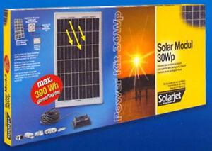 Set Pannello Solare STOCKER SOLARJET Power Kit 30Wp
