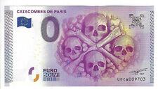 Billet 0 Euro Catacombes de Paris, 2015 - NEUF