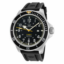 Glycine Men's Combat Sub GL0274 46mm Black Yellow Dial Silicone Watch