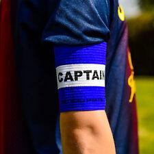 Il CALCIO CAPITANI Bracciale Bianco / Blu Junior Arm Band [ Net mondo dello sport ]