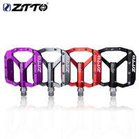 ZTTO MTB bike Pedal Ultralight Alloy Anti-slip DU Bearings Hi-Quality Flat Pedal