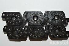6PCS SOCKETS PL31A-P FOR IN-12 / IN-15 / IV-22 NIXIE TUBES! NOS! USSR!