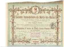 Société IMMOBILIERE de Néris-les-Bains paris 1896