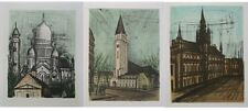Bernard BUFFET - 3 LITHOGRAPHIES - Monuments de PARIS -  1967 #MOURLOT