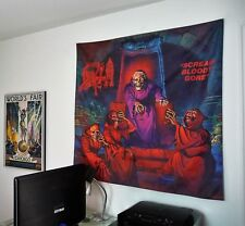 DEATH metal band Scream Bloody Gore HUGE 4X4 BANNER poster tapestry cd album
