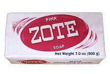 Zote Pink Laundry Soap Washing Clothes  Detergent Kitchen Jabon House 7 oz Bars