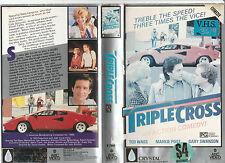 TRIPLECROSS TED WASS MARKIE POST GARY SWANSON DENNIS FARINA RARE PAL VHS VIDEO