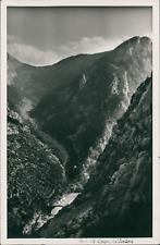 France, 1939, Gorges du Verdon (Var) Vintage silver print. Postcard paper.  Ti