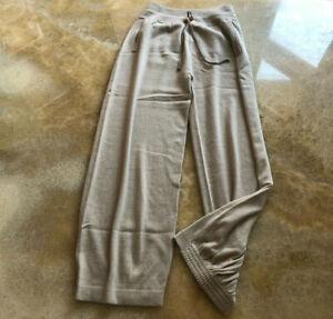 Agnona pure cashmere casual trousers jogger, beige, size L,.UK 14, IT46 RRP £930
