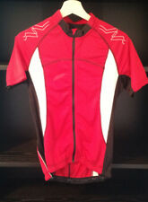 Crane Performance Mens Medium red cycling shirt with bottle pockets and zips
