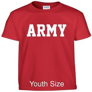 US ARMY Kids Boys Girls T Shirt Child Children YOUTH FIT Tee T Shirt