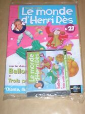 RARE CD + MAGAZINE / LE MONDE D'HENRI DES N° 27 / BALLON ROND / NEUF
