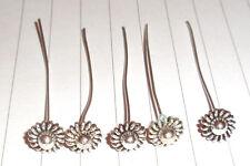 10 x FIORE TESTA Tibetan Silver head Pins