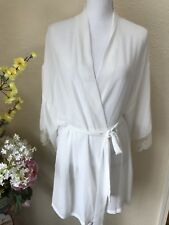 flora nikrooz White Ivory Short Robe Sz L/xl