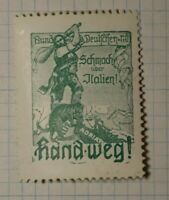 Germany WW1 Italy's Shame Proganda WW Political & Patriotic Poster Stamp