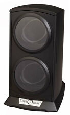 Dual Watch Winder  Automatic Economy Double  Tower Black New Diplomat
