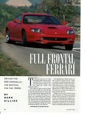 1997 FERRARI 550 MARANELLO ~ GREAT 3-PAGE ARTICLE / AD