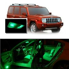For Jeep Commander 2006-2010 Green LED Interior Kit + Green License Light LED