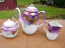 vintage richard ginori decorazione eseguita 3 piece coffee/tea serving set roses