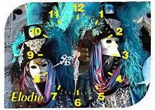 horloge pendule murale venise carnaval personnalisée prénom au choix réf F 40