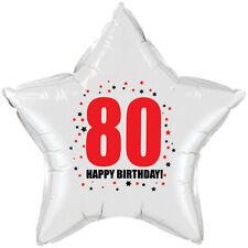 80TH BIRTHDAY STAR BALLOON 18 INCH MYLAR BIRTHDAY PARTY SUPPLIES
