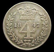 More details for victoria 1847 silver maundy fourpence - gef