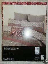 John Lewis Alimah Red Single Duvet Cover 100% Cotton RRP £60