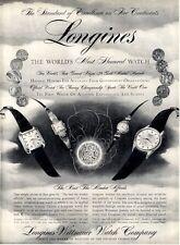 """1957 Longines-Wittnauer Watch Garfield-Eldorado""""C""""-Starlight-Marlboro PRINT AD"""
