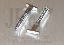 "(x10pcs) Security Hanger T Screw 1/4"" Lag ~ Picture Frame"