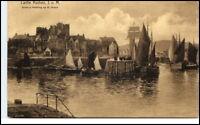 CASTLE RUSHEN Isle of Man Vintage Postcard alte AK ~1910/20 R. Wane Painting
