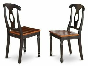 Kenley Napoleon-Styled Black/ Cherry Dining Chair (Set of 2)