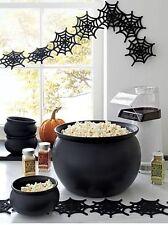 New Crate & Barrel Cauldron Bowl Mini Halloween Witch Brew Black Ceramic 109-004