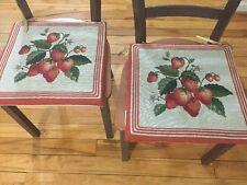 2PC Strawberry  Chair Pad Cushions  Kitchen Decor