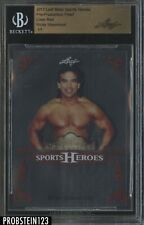 2017 Leaf Metal Pre-Production Proof Clear Red Ricky Steamboat BGS 1/1
