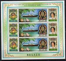BELIZE STAMPS 1985 THE FIRST VISIT OF H.M. QUEEN ELIZABETH 11 TO BELIZE MNH