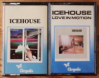2x ICEHOUSE CASSETTE TAPES LOT - LOVE IN MOTION - CHRYSALIS AUSTRALIAN NEW WAVE
