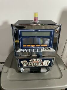 RecZone Model 950 7 Games in 1 Video Poker Coin Bank Touch Screen