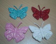 25 pcs  multi-color meltalic cuty butterfly appliques craft size 4.5cm